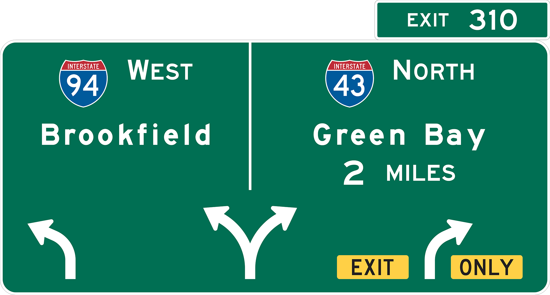 Highway Exit Sign Template Milestones - Hi...